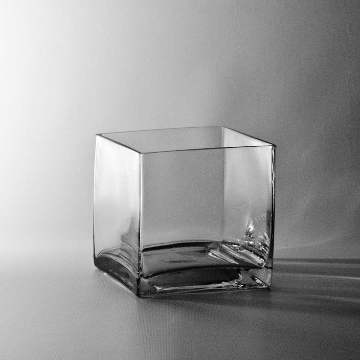 discount clear square vase