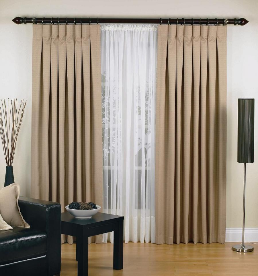 Latest trend in curtains. Inverted pleat style which is sleek...