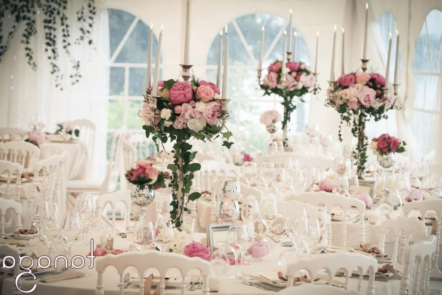 photo decoration table salle mariage