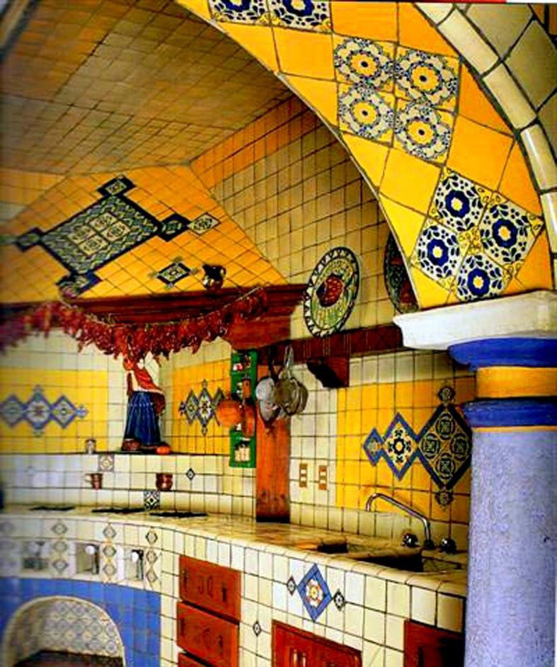 Photos of mexican style kitchens for Mexican decorations for the home