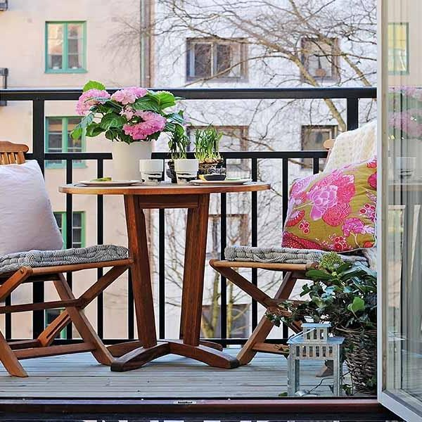 wooden furniture for balcony