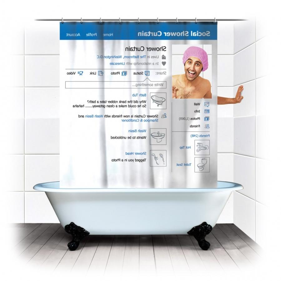 Social Shower Courtain.Shower Curtains From Photos