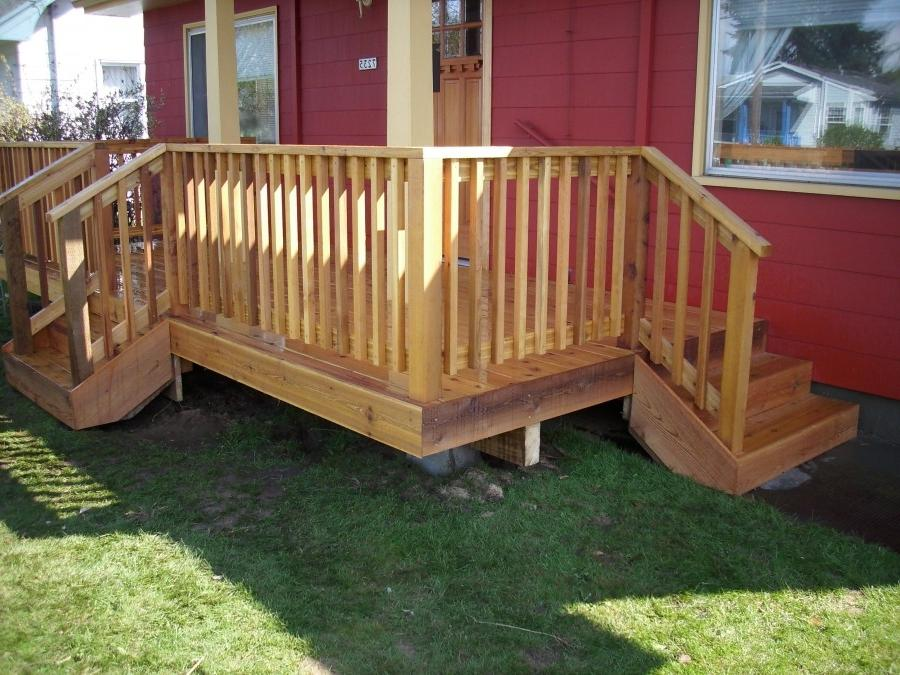 Pre-stained cedar porch