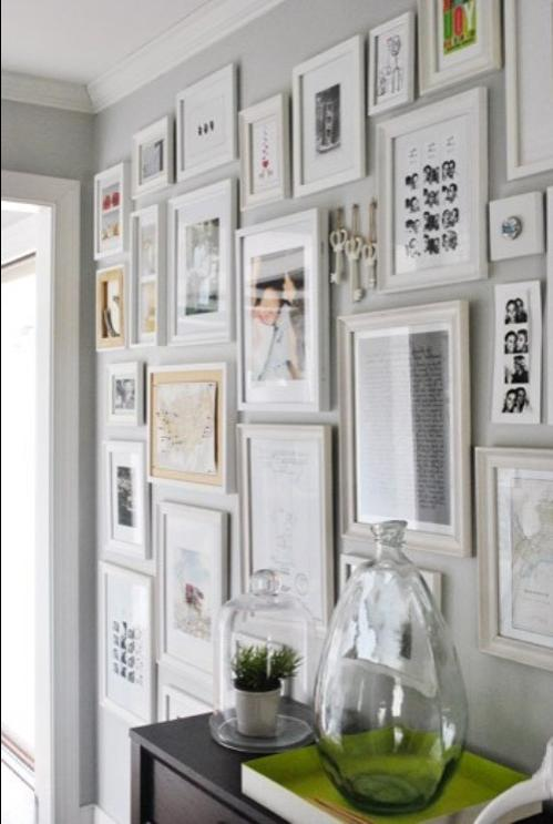A wall collage is perfect in a tight space like a hallway or...