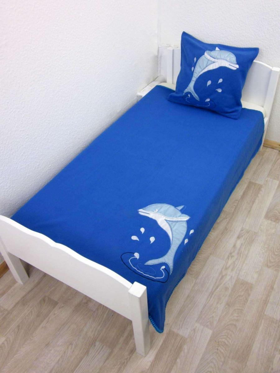 Linenstore-UK Dolphins Fleece Blanket and Cushion Cover