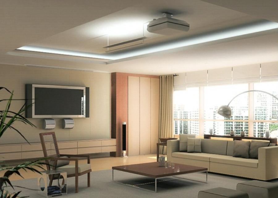 POP Ceiling Ideas for Small Homes : Living Room Ceiling Design