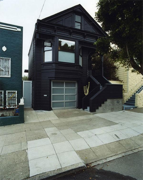 blue black monochrome victorian house 1 Eye Catching Victorian...