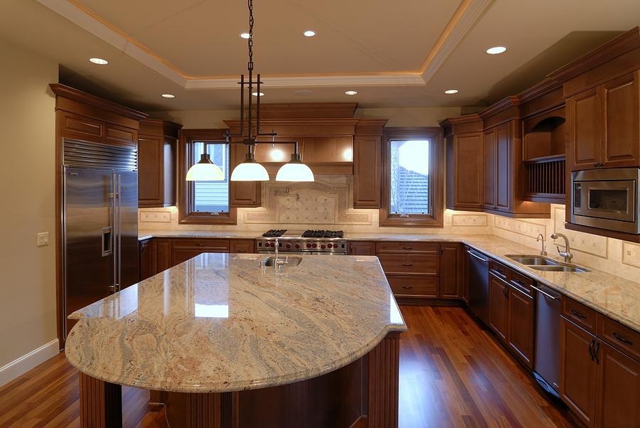 Mesmerizing Orange Kitchens Dark Brown Cabinets