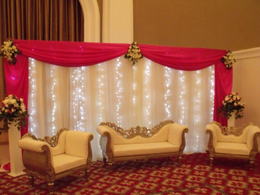 Marriage stage decoration photos for Asian stage decoration