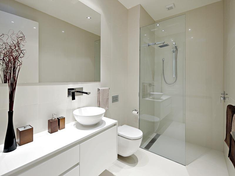 ... Bathroom Designs: Maximizing the Wood : Modern White Bathroom...