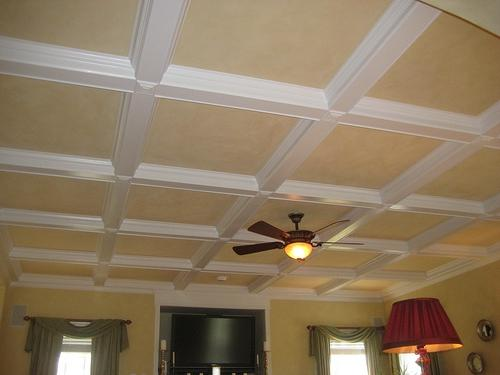 coffered ceiling painting