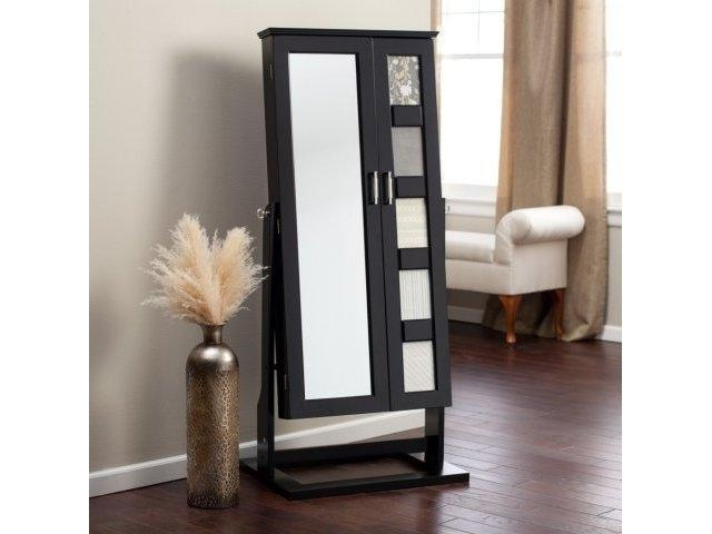 Photo Frames Wall Mount Jewelry Armoire Mirror Espresso