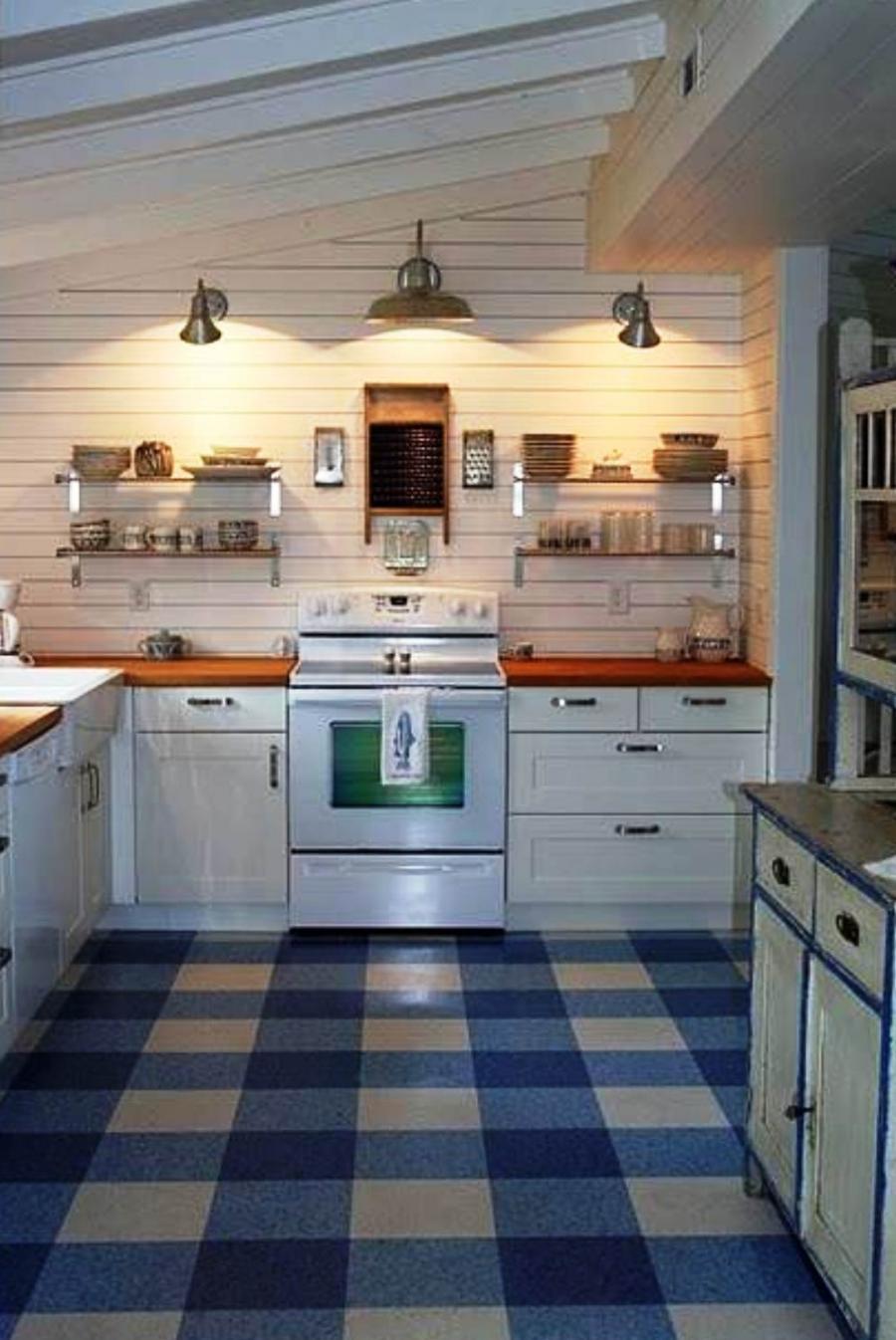 Linoleum kitchen flooring photos for Kitchen and bathroom lino