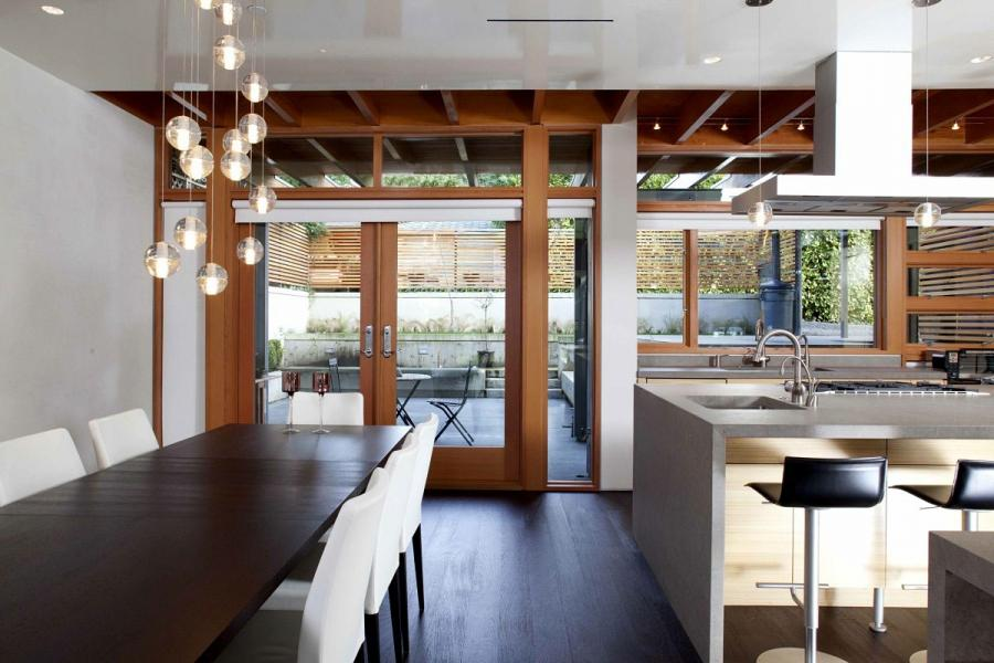 Architecture Open Space Design Between Dining Room And Kitchen...
