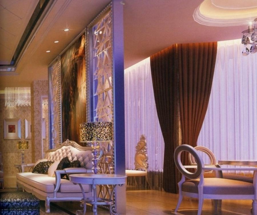 Living Hall Interior Design: Room Partition Design Photos