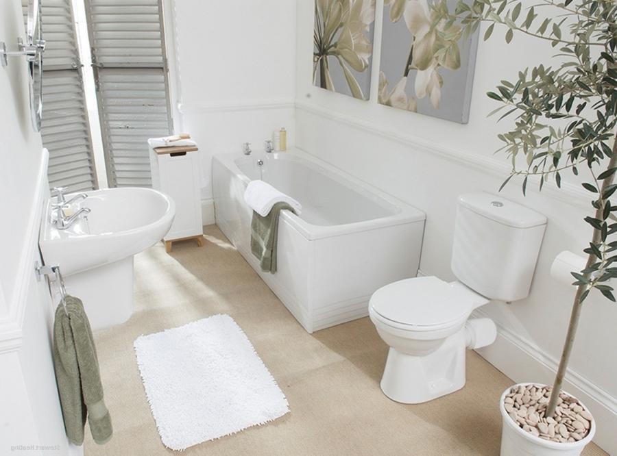 White clean bath up with white clean wall in simple all white...