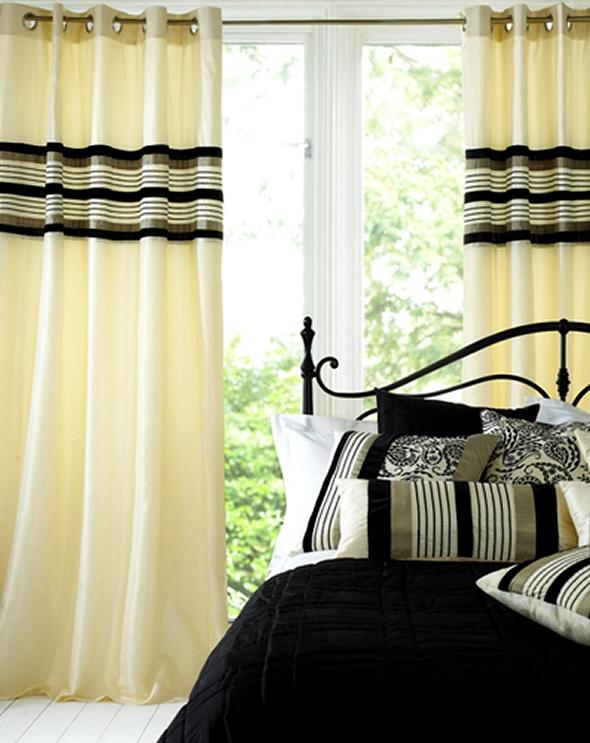 Bedroom curtain designs photos for Bedroom window styles