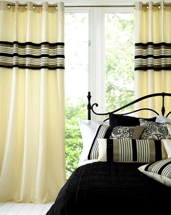 Bedroom curtain designs photos for Bedroom window styles