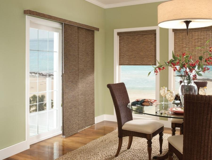 Window treatments sliding glass doors photos - Blinds for sliding french doors ...