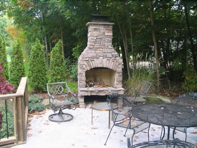 small patio fireplaces pictures to pin on pinterest With Yard Back Large Openingsfireplaces Back Yard BBQ Pit Fireplace