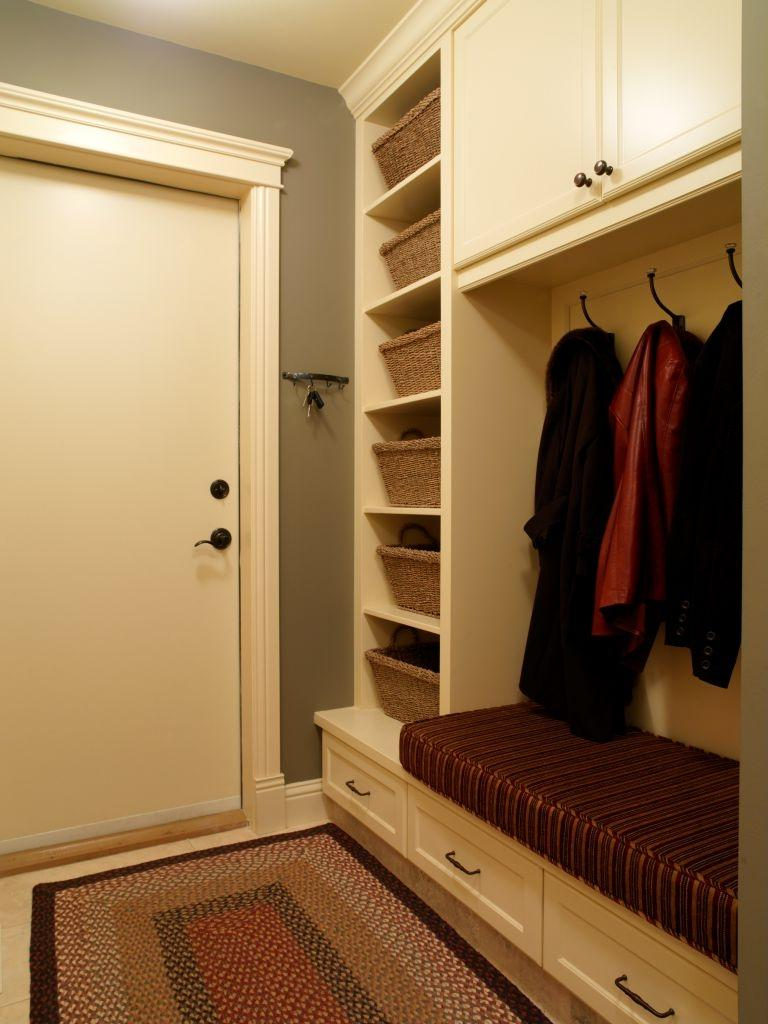 Chic Modern Mudroom Wall Three Hook And Three Round Drawers Also...