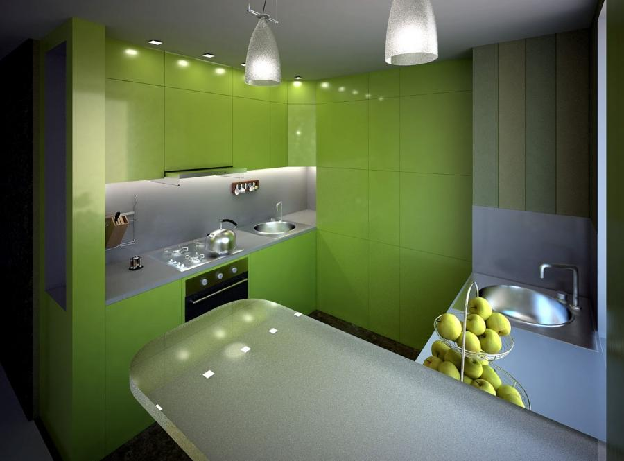Kitchen Decor for Green Color Schemes