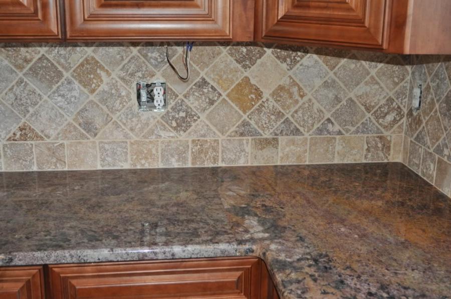 travertine tile backsplash photos