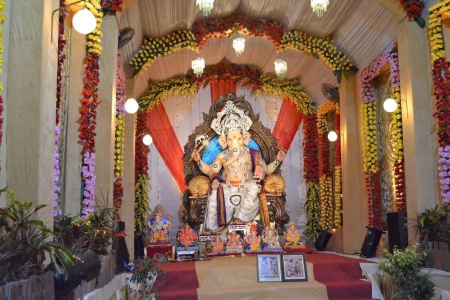 Photos ganesha decoration for Background decoration for ganesh festival