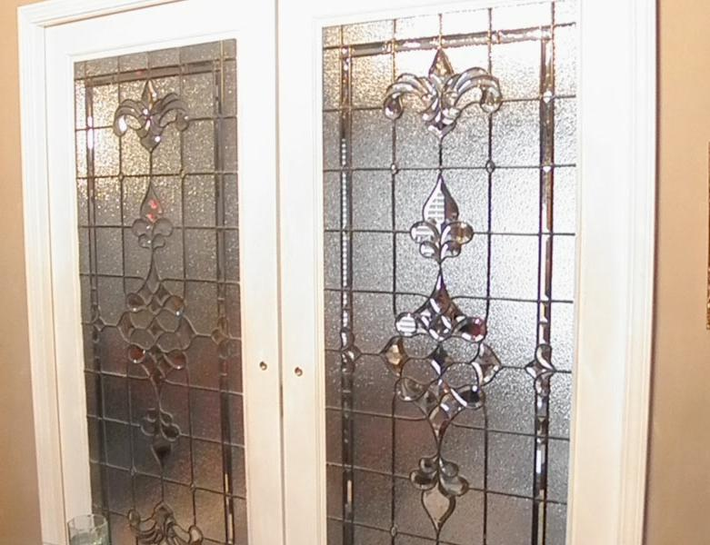 Stained Glass Windows 27u201d X 67u201d Beveled  Clear textured...