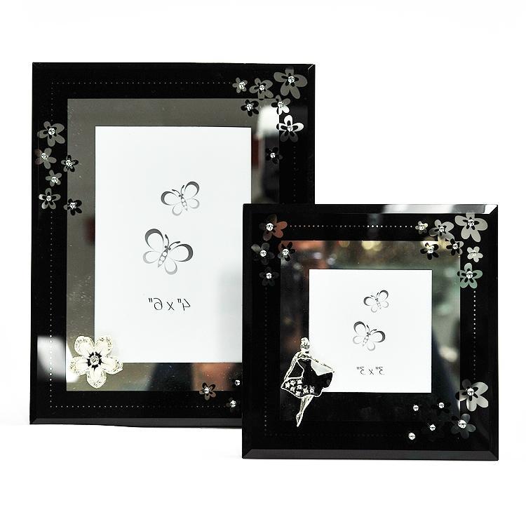 black glass photo frame