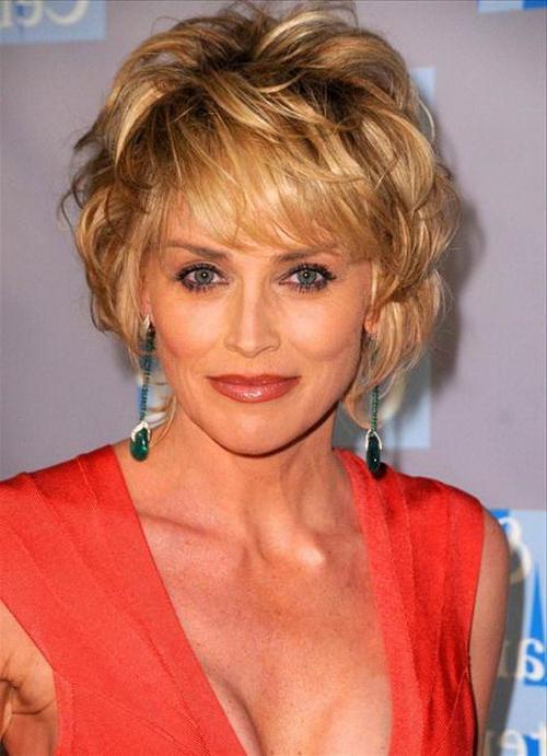 Sharon Stone Short Haircut Photos