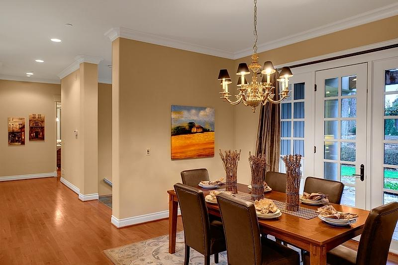 Staged dining room photos for Furniture rental seattle