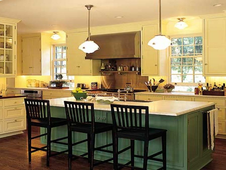 Island kitchen photo gallery for Romantic kitchen designs