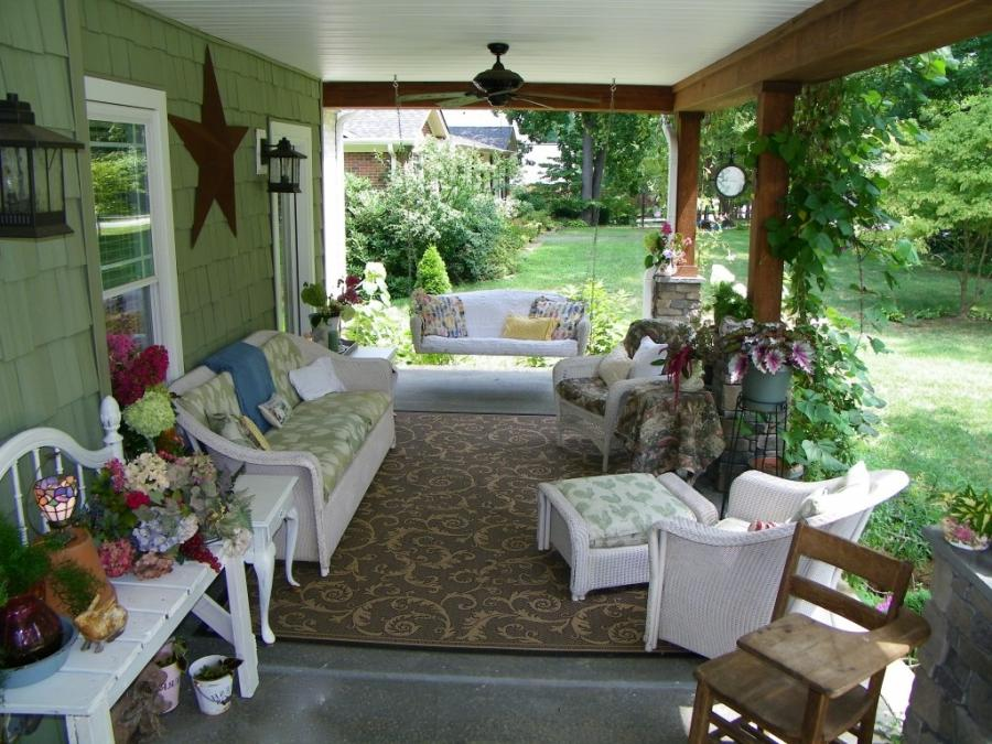 Photos of cottage style porches for Terrace party decoration ideas