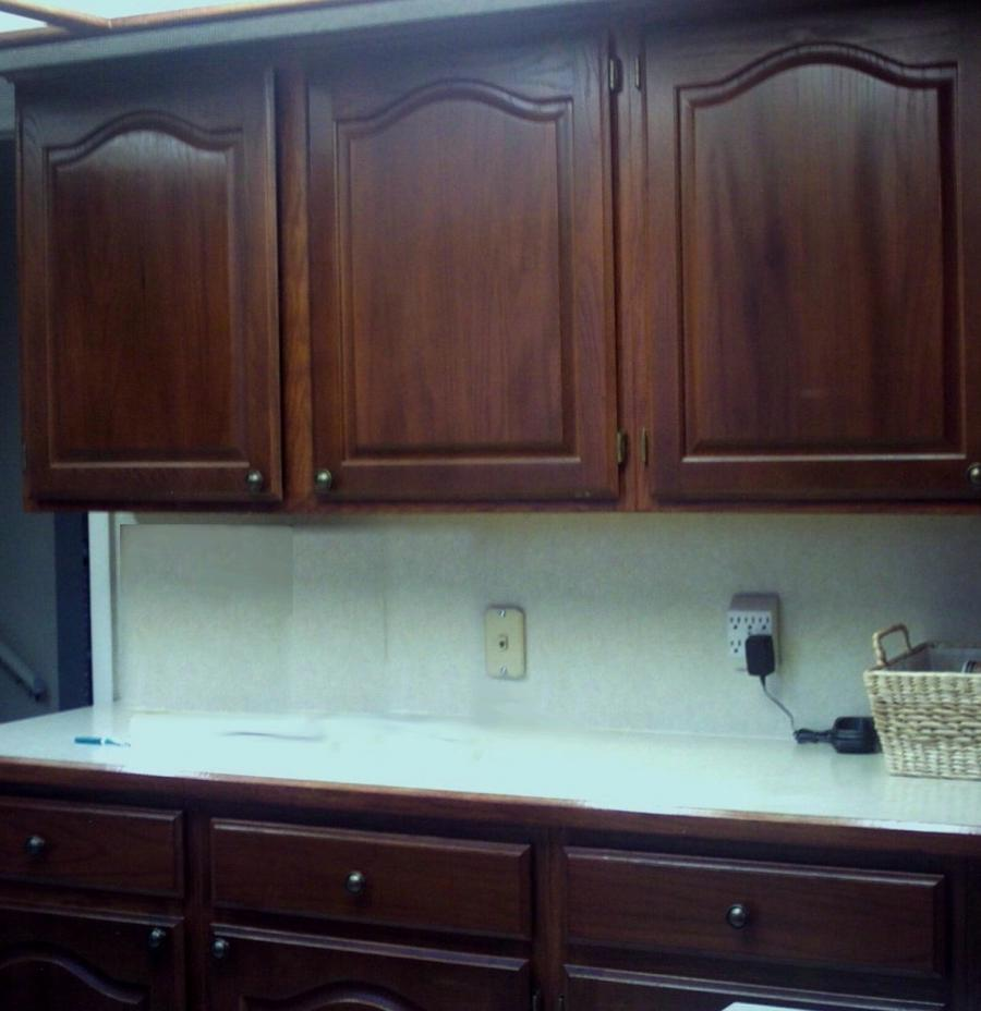 How To Refinish Kitchen Cabinets Yourself: Photos Of Refinished Oak Cabinets