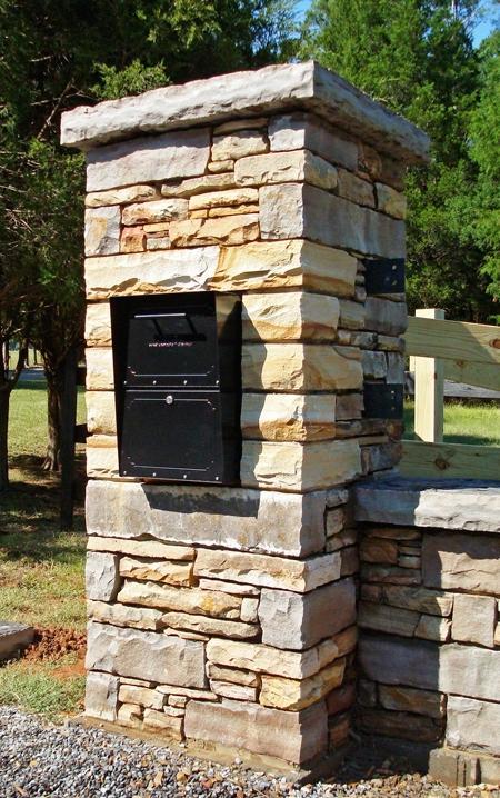 stone mailbox photos