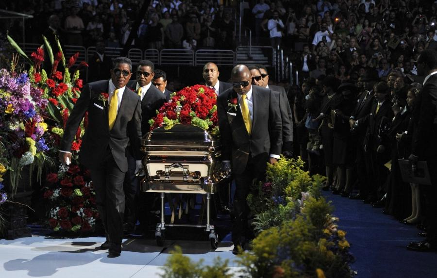 Michael Jackson Casket Photos