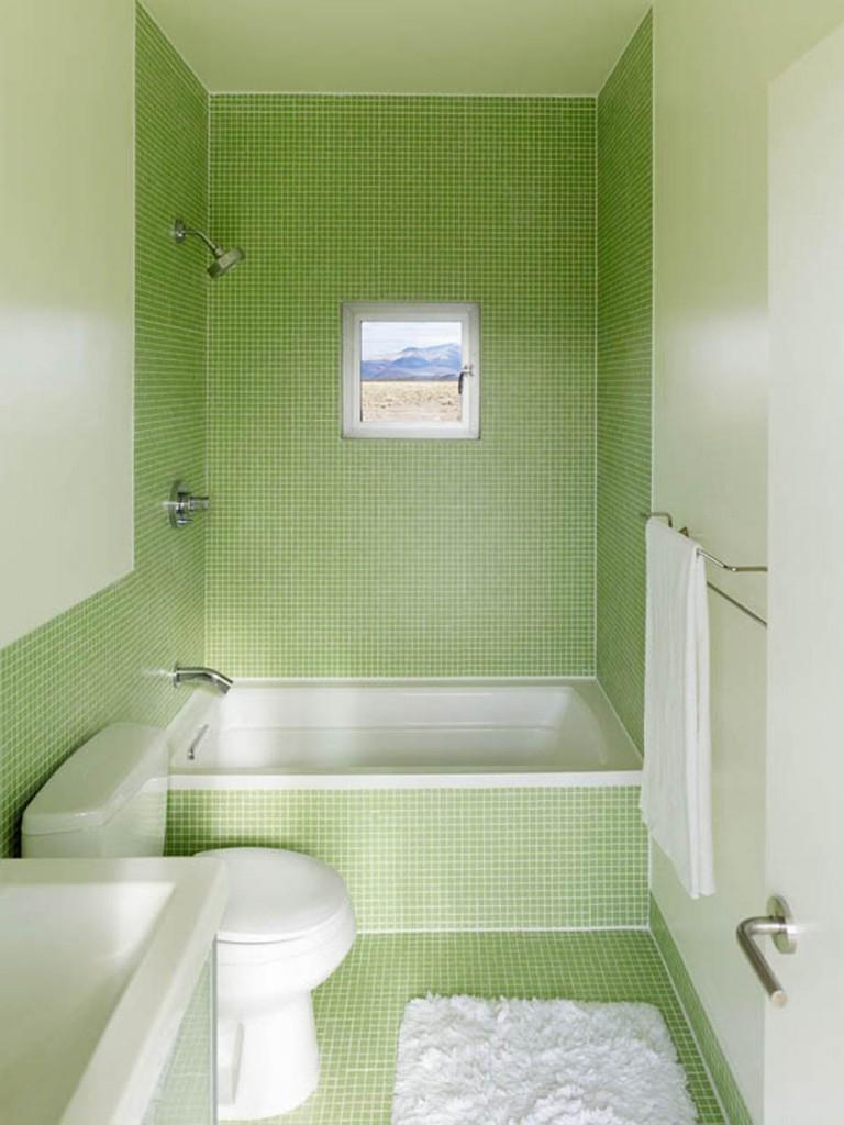 Green bathroom design photos for Bathroom decor light green