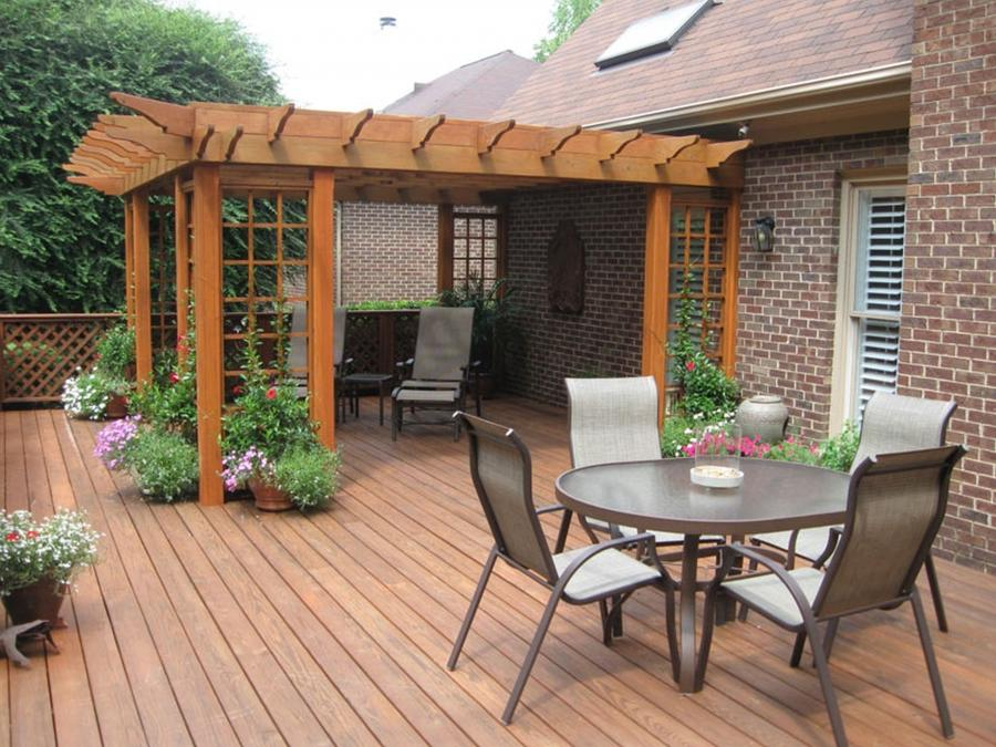 back porch decorating ideas back deck pergola reveal love of...