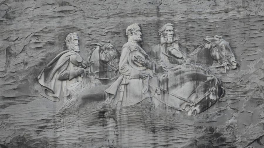 Stone Mountain Park, Dec 03, 2012 - The Confederate Memorial...
