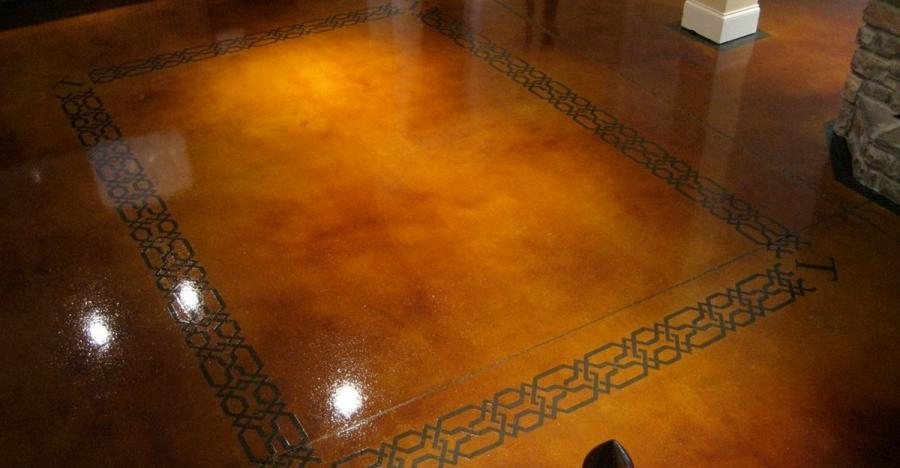 Dye And Seal Concrete, Stained Concrete, Brown Stained Concrete...