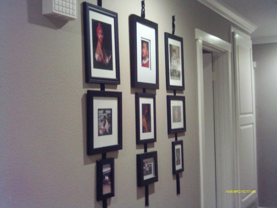 When I was little we had a big display of pictures in the hallway...