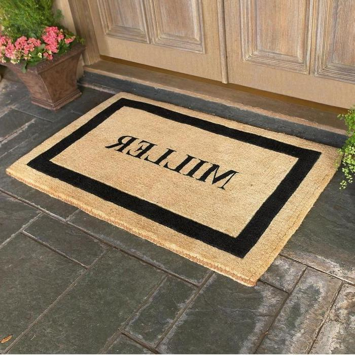 Whitehall Coir Knot Doormat Mat Personalized Cast: Photo Personalized Door Mats