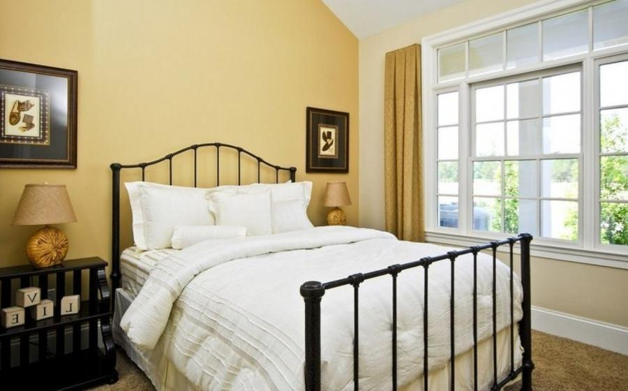Yellow Walls White Windows In Neo Sharpal Bedroom Idea
