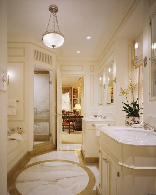 Marble Bathrooms Photos: Calcutta Gold Marble Bathroom Photos