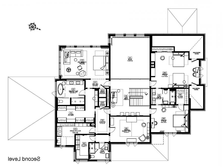 Photos and plans houses for Modern japanese house floor plans
