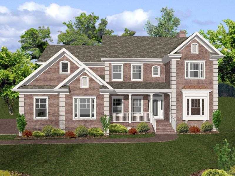 Brick house plans with photos for Brick colonial house plans