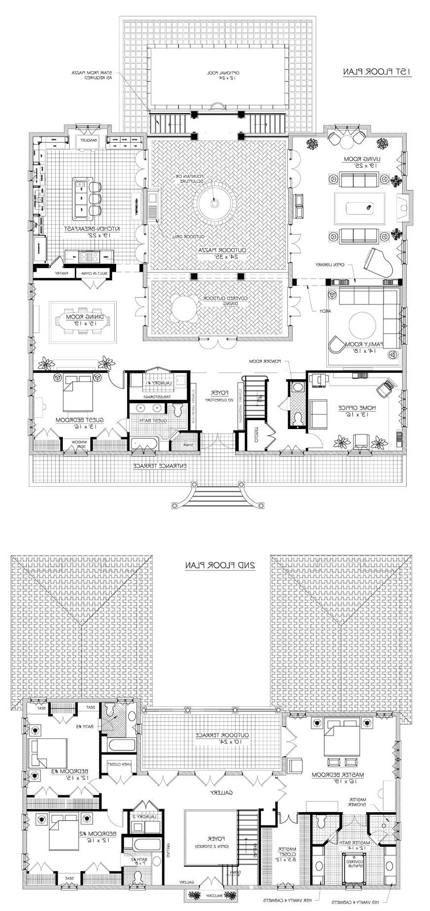 French House Plans Photos