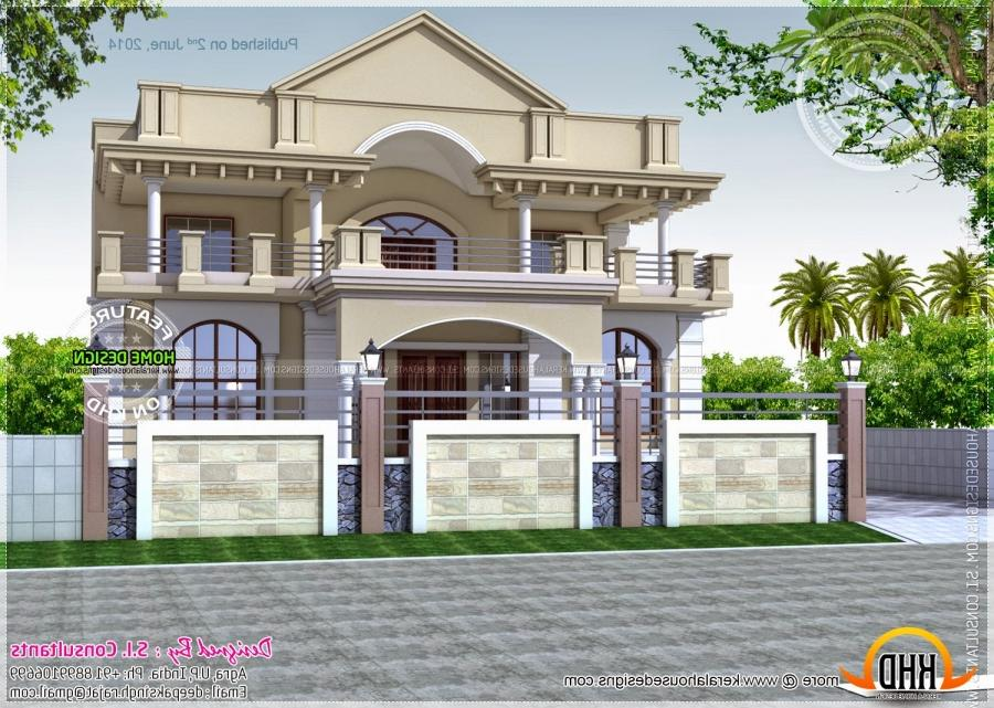 North indian house designs photos for Exterior house designs indian style