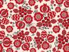 Seamless ethnic pattern with ukrainian embroidered flowers